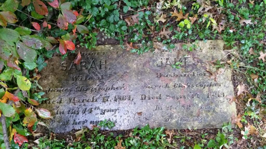 Grave marker, Christopher Family Graveyard