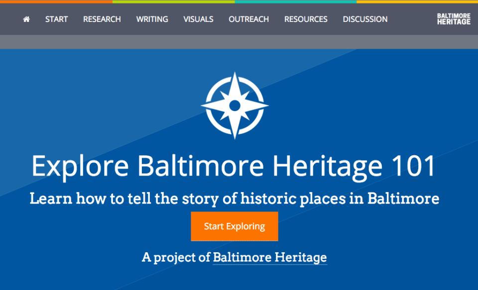 Explore Baltimore Heritage 101