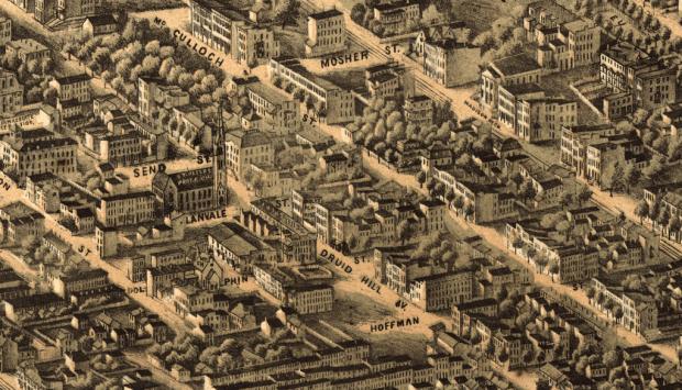 Druid Hill Avenue, 1869. Courtesy Library of Congress