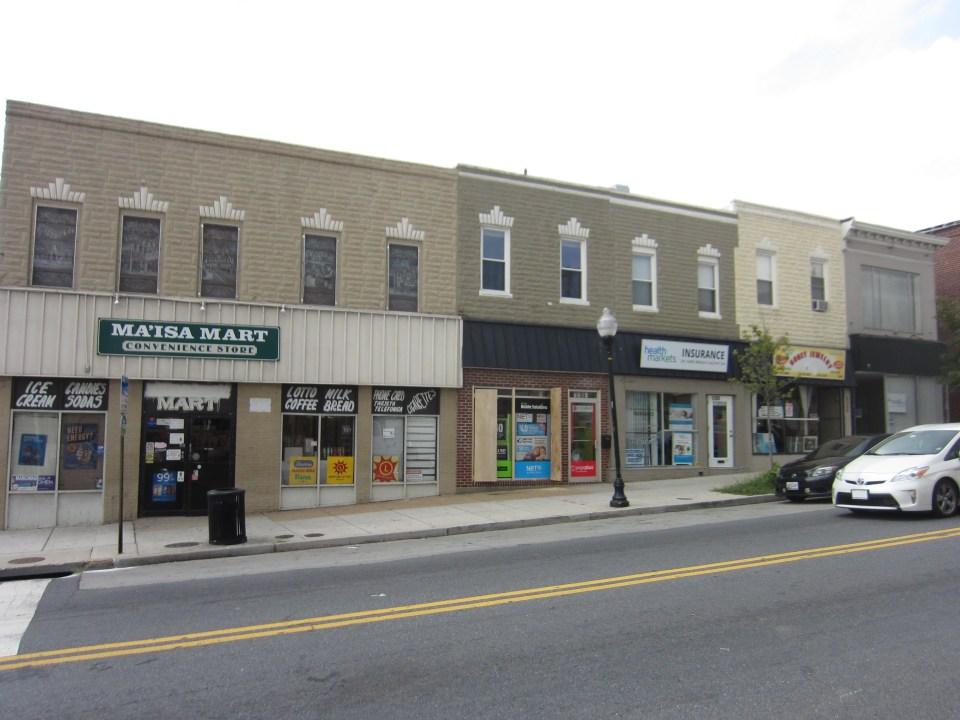 The 3300 block of Eastern Avenue in Highlandtown, a facade grant recipient