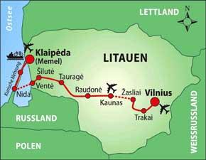 Radtour Klaipeda-Vilnius