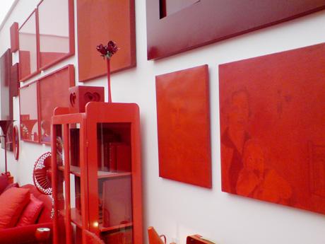 Cuadros, detalles y decoraciones rojas