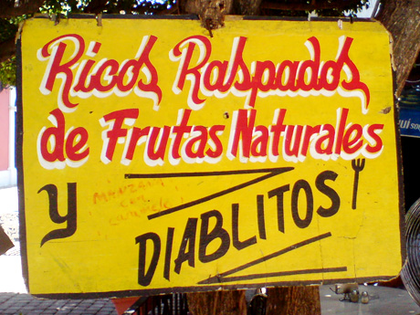 Hermoso ejemplo de tipografía hacha a mano en Mazatlán