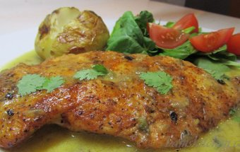 Roasted Tomatillo and key lime chicken