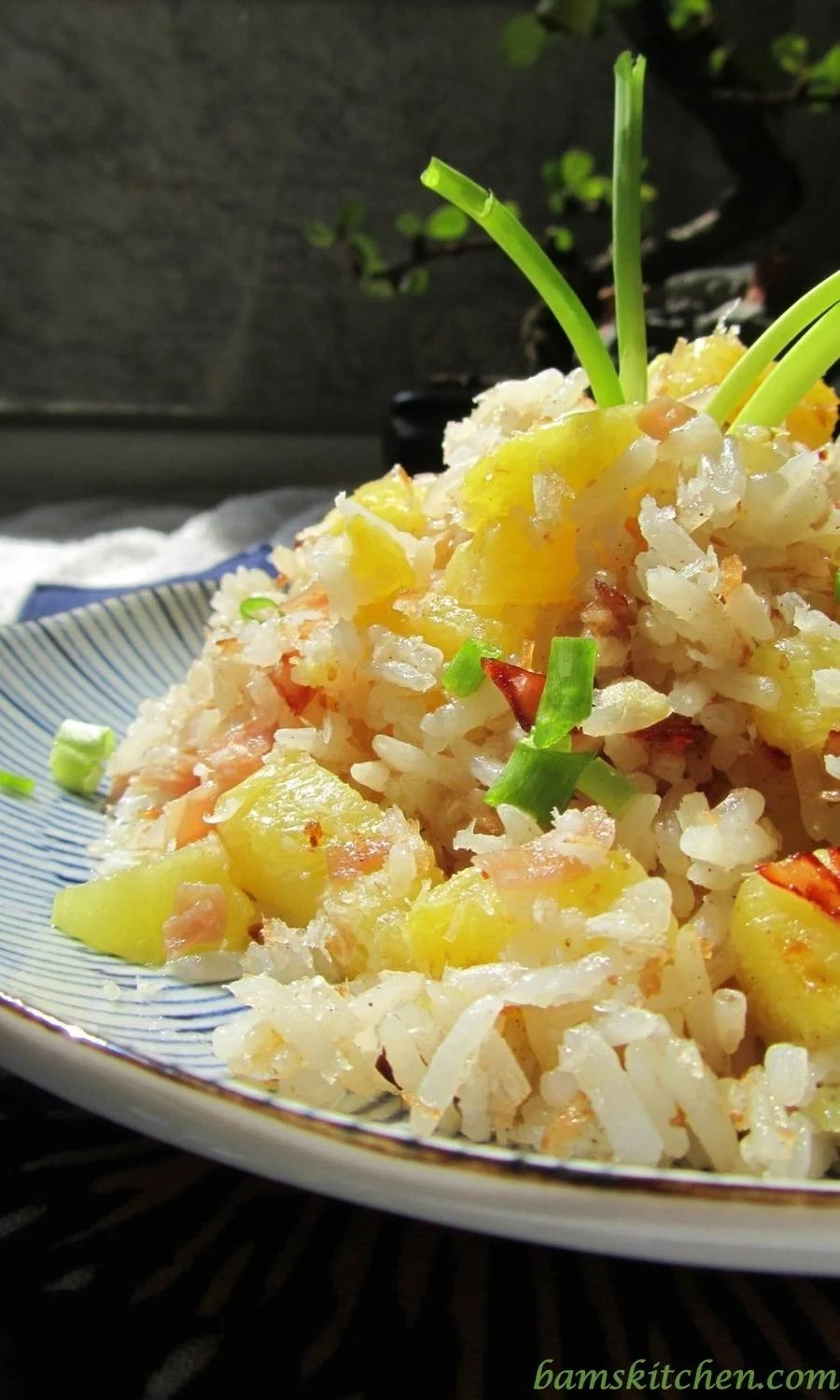 Hawaiian Luau rice is always best cooked with day old long basmati ...
