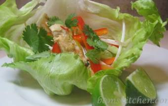 Sizzling Thai Chicken Lettuce Wraps