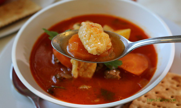 Bam's Kitchen - Hungarian Goulash Soup (Gulyásleves) - Bam's Kitchen