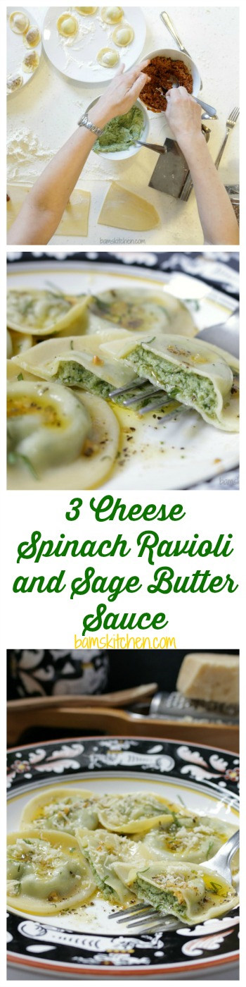 ... up your muscles and lets make some homemade 3 cheese spinach ravioli