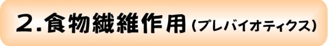 2.食物繊維作用(プレバイオティクス)