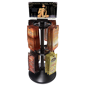 synergy tan tanning lotion rotating sachet display deal for salons