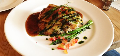 Pan Seared Basa with Burghul Risotto