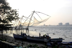 The famous Chinese fishing nets
