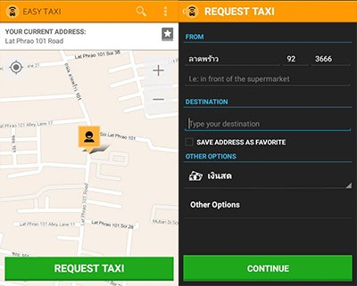 Easy Taxi booking