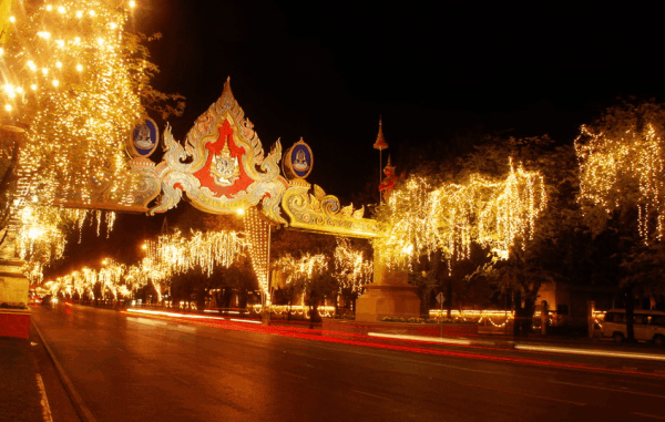 Light and decoration on RAtchadamnoen Road