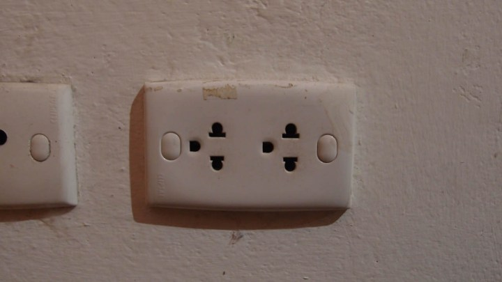 A normal electric socket