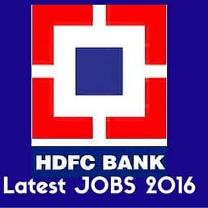HDFC JOBS 2016 - Personal Banker and Trainee Debt Management.