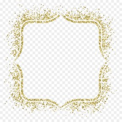 Small Of Gold Glitter Border