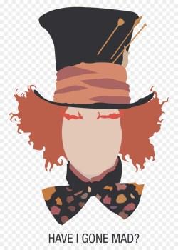 Small Of Mad Hatter Silhouette