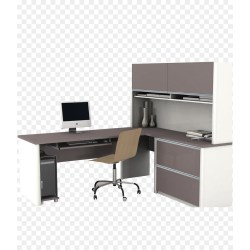 Small Crop Of Office Desk With Hutch