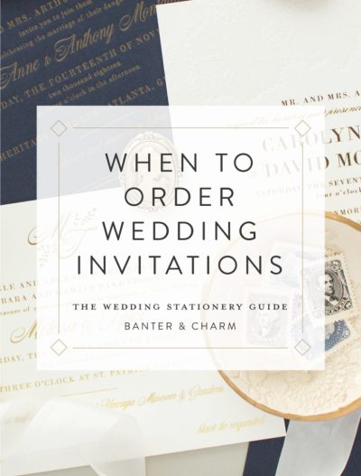 When to order wedding invitations | The Wedding Stationery ...