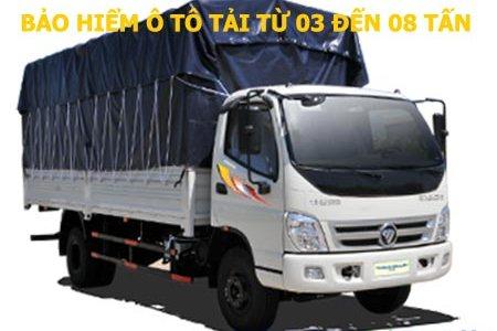 Bảo hiểm xe ô tô tải từ 03 đến 08 tấn