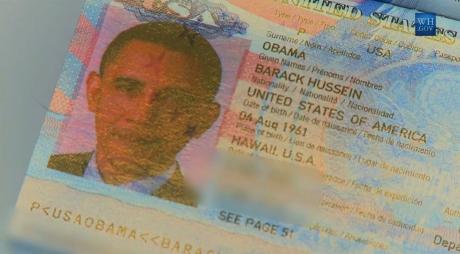 President Obama's Passport Photo