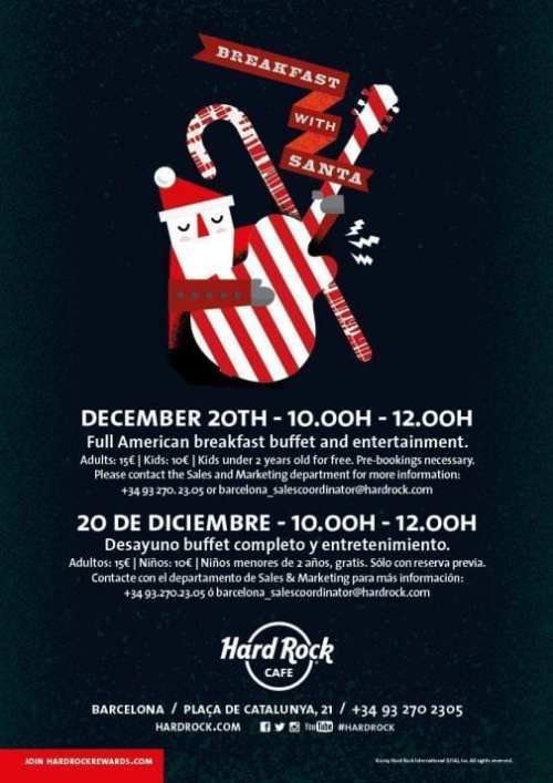 Conoce a Papá Noel en Hard Rock Café