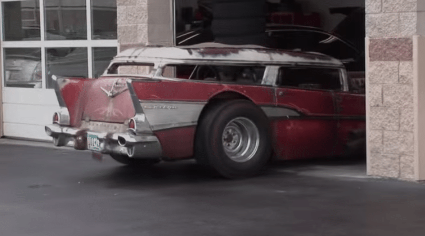 57 rat rod chevy wagon