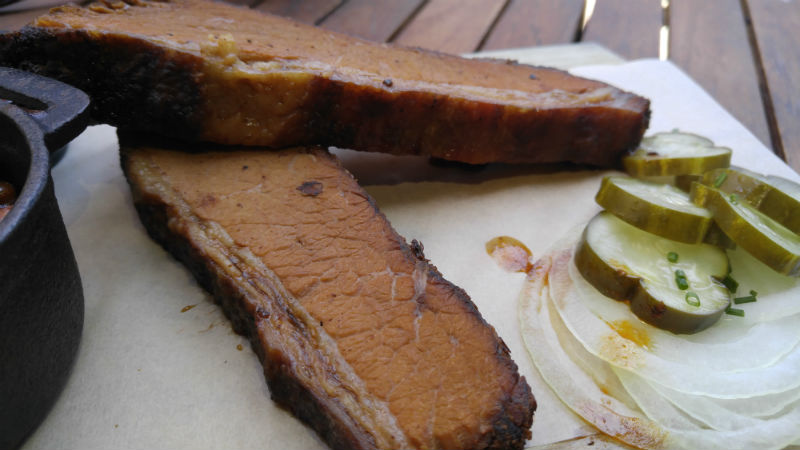 Thick sliced Brisket