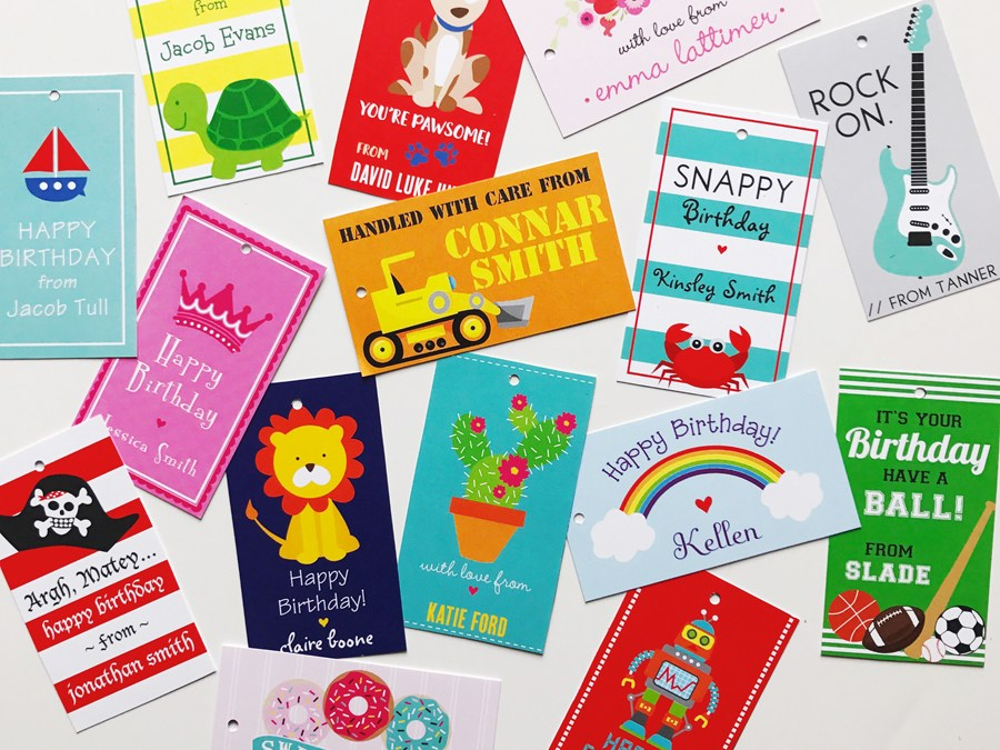 NEW Personalized Gift Tags for Kids