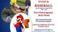 affiche Stage baseball printemps 20