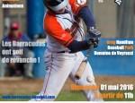Ce dimanche 1er mai, un des rendez-vous les plus importants de cette saison régulière aura lieu au Greg Hamilton Baseball Park ! Pas de repos pour nos Barracudas qui affronteront […]