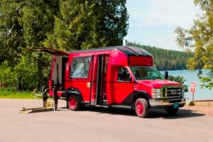 New accessible Red Bus in Glacier National Park