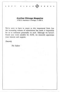 ACM letter
