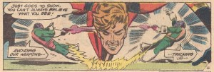 Elongated Man fights foes with PERSPECTIVE!