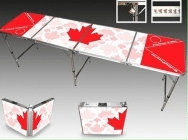 beer pong tables - canadian flag