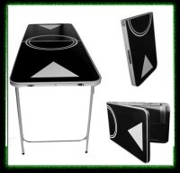 beer pong tables - black