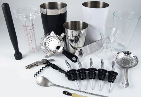 bar tools and bartending supplies