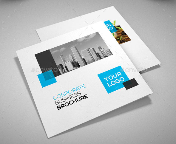 21 Striking Square Brochure Template Designs   Web   Graphic Design     Square Corporate Trifold Brochure