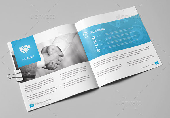 21 Striking Square Brochure Template Designs   Web   Graphic Design     Multipurpose Square Brochure