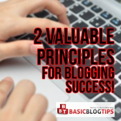 2 Valuable Principles of Success in Blogging!