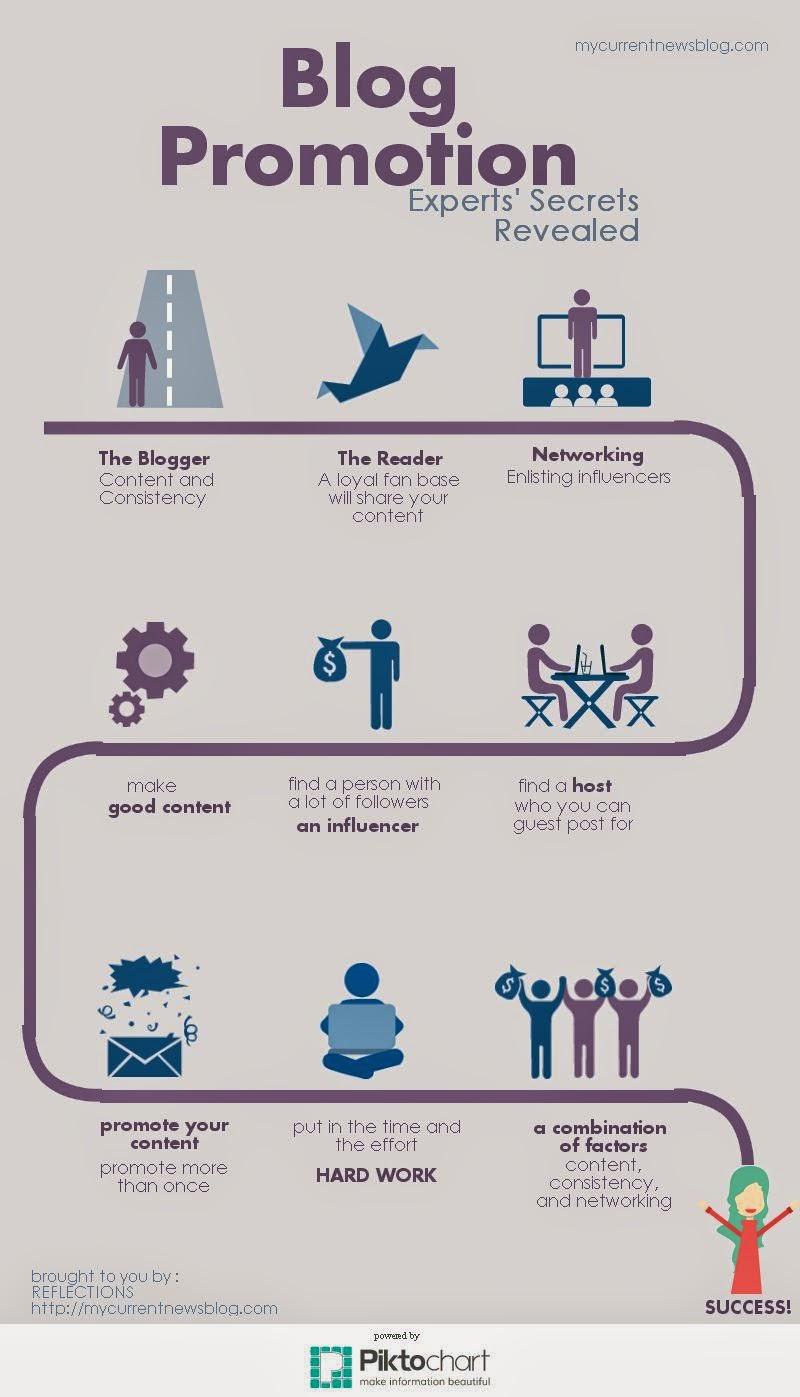 Secrets to Blogging Promotion Infographics
