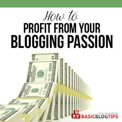 How to Profit from a Niche Blog Topic You are Passionate About