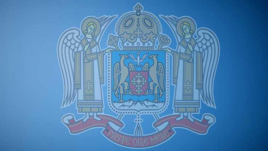 Fundal Stema Patriarhie Albastru