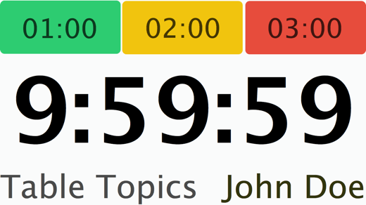 Speech Timer redesign Mac secondary window
