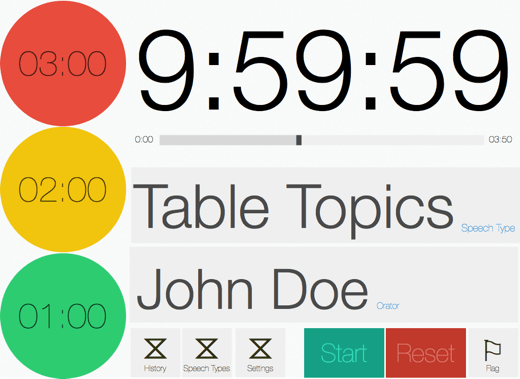 Speech Timer redesign iPad landscape