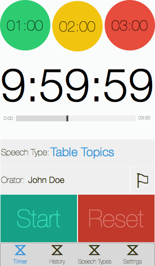 Speech Timer redesign iPhone 5