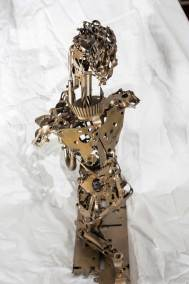 metal sculpture, saxophone collectible, Mauricio Matta, reclaimed metal,