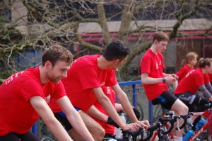 The Zoe Trust Challenge saw students complete the distance of 22 Ironmans in 22 hours