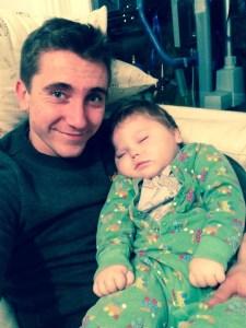 Christian Miller holds nephew Theo Crunden
